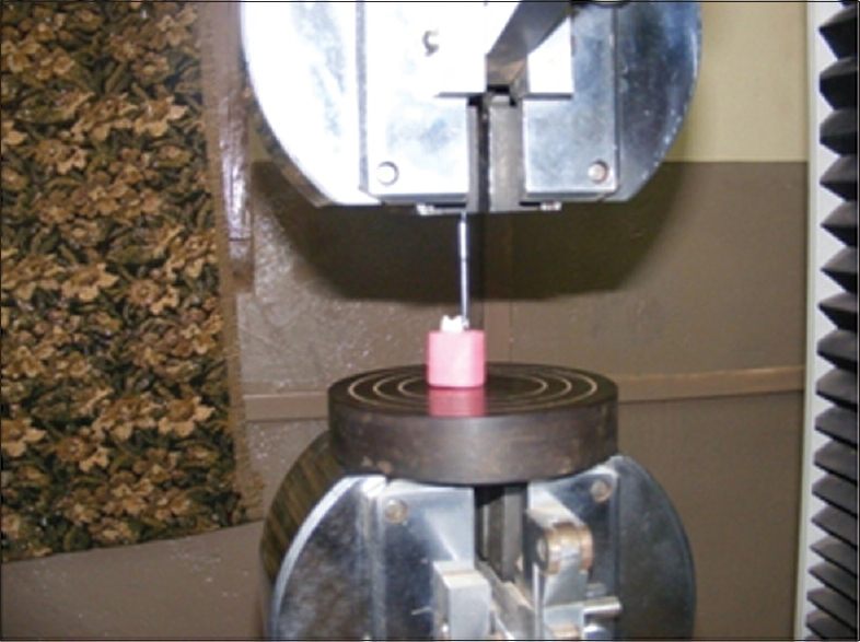 Figure 5: Debonding using Instron Testing Machine